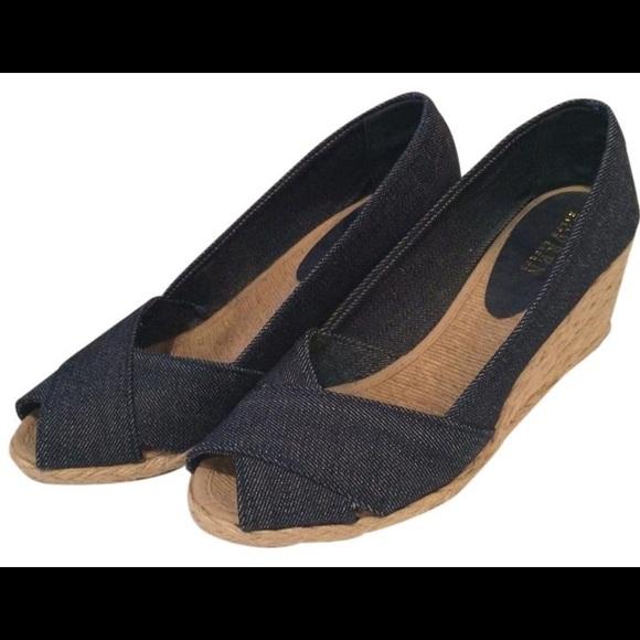 5d5e072872d3 Lauren Ralph Lauren Shoes - Lauren Ralph Lauren Denim Cecilia Wedge Size 9